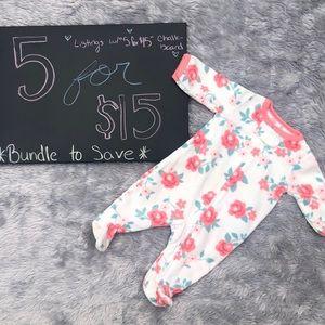 Newborn fleece pajamas